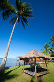 Traditional Indonesian chalet in an island resort Stock Photography