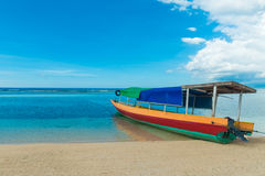 Traditional indonesian fisherman boat Stock Photography