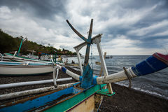 Traditional Indonesian fishing boat Royalty Free Stock Image