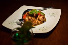 Traditional Indonesian Food with conceptual vintage. N royalty free stock photos