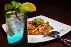 Traditional Indonesian Food with conceptual vintage. N stock photography