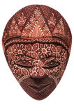 Traditional indonesian mask. On a white background Royalty Free Stock Image