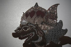Traditional Indonesian shadow puppet theatre wayang kulit Royalty Free Stock Photos