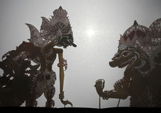Traditional Indonesian shadow puppet theatre wayang kulit Stock Images