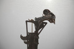 Traditional Indonesian shadow puppet theatre wayang kulit Royalty Free Stock Photography