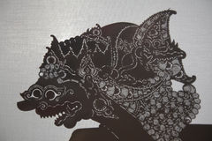 Traditional Indonesian shadow puppet theatre wayang kulit Stock Photo
