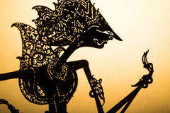 Traditional Indonesian wayang puppet Stock Images
