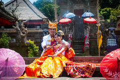 Traditional indonesian wedding, just married couple Royalty Free Stock Images