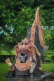 Traditional indonesian wooden sculpture Stock Photography