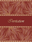 Traditional invitation card design Stock Photos