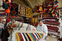 Traditional iranian carpets in a market, Iran Royalty Free Stock Images