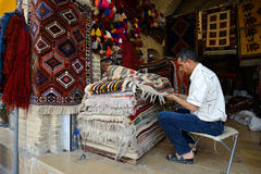 Traditional iranian carpets in a market, Iran Stock Images