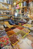 Traditional iranian food and spices in market in Isfahan, Iran Stock Photography