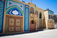 Traditional Iranian houses on the streets of Shiraz. Iran royalty free stock images