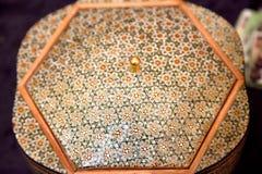 Traditional Iranian mosaic technics khatam Stock Image