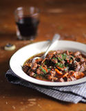 Traditional irish beef stew with carrot Stock Image