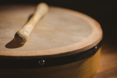 Traditional Irish bodhran and stick Royalty Free Stock Photography