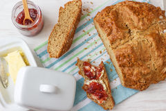 Traditional Irish Brown Soda Bread. Traditional Homemade Irish Brown Soda Bread - Taste of Ireland Stock Images