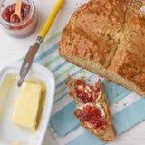 Traditional Irish Brown Soda Bread. Traditional Homemade Irish Brown Soda Bread - Taste of Ireland Stock Photography