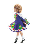 Traditional Irish dancer in midair Royalty Free Stock Photos