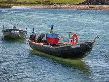 Traditional Irish fishing boats vessels in county Galway, near L Royalty Free Stock Photos