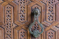 Traditional Iron Moroccan Door Knob Stock Image