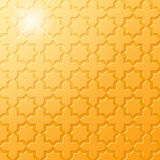 Traditional Islamic Golden Pattern. Traditional Islamic star and cross golden pattern. EPS 10 Stock Images