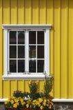 Traditional islandic facade. Siglufjordur. Iceland. Royalty Free Stock Images