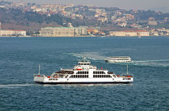 Traditional Istanbul ferryboats in Istanbul, Turkey Stock Photo