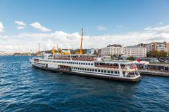 Traditional Istanbul passenger ferry Royalty Free Stock Photos