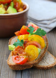 Traditional Italian appetizer of bruschetta Royalty Free Stock Photos