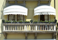 Traditional Italian balcony. Stock Photos