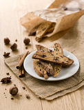 Traditional Italian biscotti Royalty Free Stock Photo