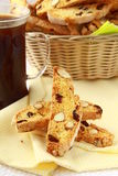 Traditional Italian biscotti cookies Royalty Free Stock Photos