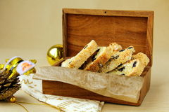 Traditional Italian biscotti cookies Stock Images