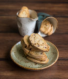 Traditional Italian biscotti cookies (cantucci) Stock Images