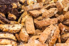 Biscotti. Traditional Italian biscotti cookies with chocolate Royalty Free Stock Photo