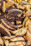 Biscotti. Traditional Italian biscotti cookies with chocolate Royalty Free Stock Photography