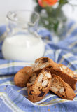 Traditional Italian biscotti cookies, selective focus Royalty Free Stock Photos