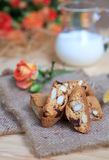 Traditional Italian biscotti cookies, selective focus Stock Image