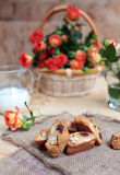 Traditional Italian biscotti cookies, selective focus Royalty Free Stock Photography