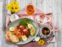 A traditional Italian breakfast Royalty Free Stock Photo