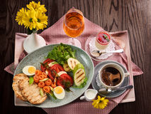 A traditional Italian breakfast Royalty Free Stock Images