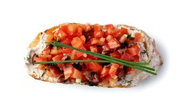 Traditional italian Bruschetta royalty free stock image