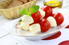 Traditional Italian Caprese Salad mozzarella Royalty Free Stock Image
