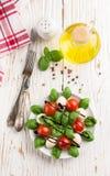 Traditional Italian Caprese salad Royalty Free Stock Photography