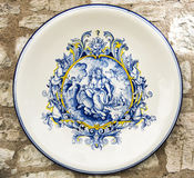 Traditional Italian ceramic plate. Royalty Free Stock Image