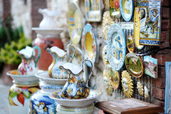 Traditional Italian ceramics royalty free stock photo