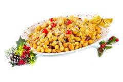 A traditional Italian Christmas stuffoli honey balls Royalty Free Stock Photo