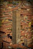 Traditional italian clay roofs old town from the top royalty free stock photos
